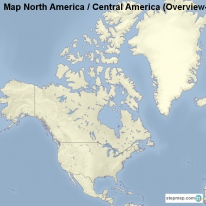 Map North America / Central America (Overview-Map)