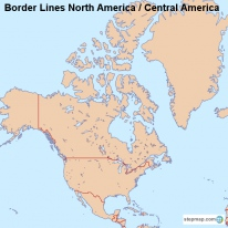 Border Lines North America / Central America