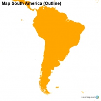Map South America (Outline)