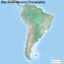 Map South America (Topography)