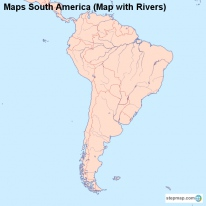 Maps South America (Map with Rivers)