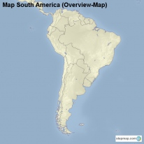Map South America (Overview-Map)