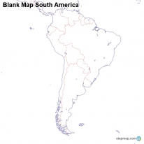StepMap Maps For South America Map - South america blank map