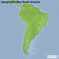 topographic Map South America