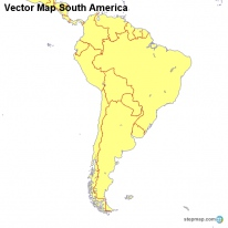 Vector Map South America