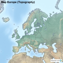 Map Europe (Topography)