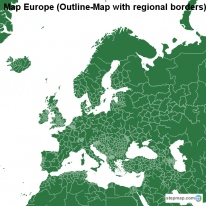 Map Europe (Outline-Map with regional borders)