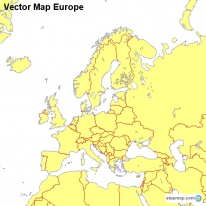 Vector Map Europe