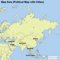 StepMap Maps For Asia Map - Political map of asia