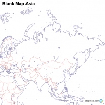 StepMap Maps For Asia Map - Asia blank map
