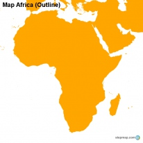 Map Africa (Outline)