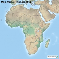 Map Africa (Topography)