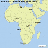 Map Africa (Political Map with Cities)