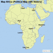 Map Africa (Political Map with Waters)