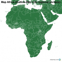 Map Africa (Outline-Map with regional borders)