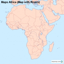 Maps Africa (Map with Rivers)