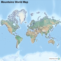 Mountains World Map