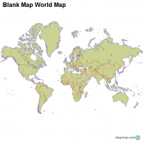 Blank Map World Map