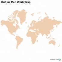Outline Map World Map