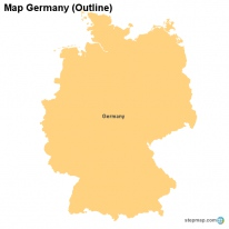 Map Germany (Outline)