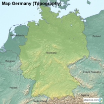 Map Germany (Topography)