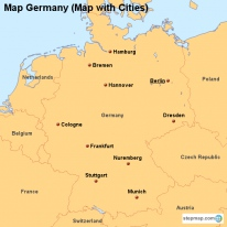 Map Germany (Map with Cities)