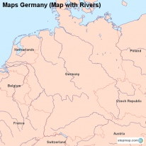 Maps Germany (Map with Rivers)