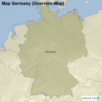 Map Germany (Overview-Map)