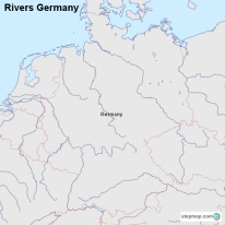 StepMap Maps For Germany - Germany map of rivers