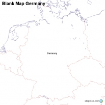 Blank Map Germany