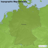 topographic Map Germany