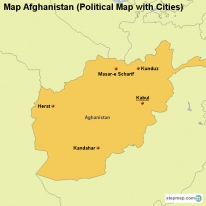 StepMap Maps For Afghanistan - Afghanistan political map