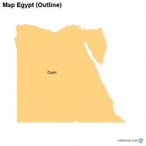 StepMap Maps For Egypt - Map of egypt blank