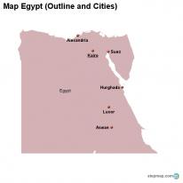 StepMap Maps For Egypt - Map of egypt outline