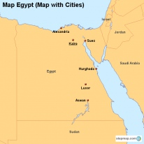 StepMap Maps For Egypt - Map of egypt with cities