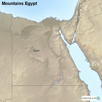 StepMap Maps For Egypt - Map of egypt mountains