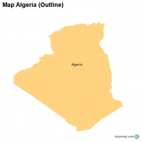 Map Algeria (Outline)