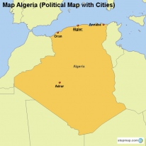 Map Algeria (Political Map with Cities)