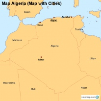 Map Algeria (Map with Cities)