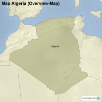 Map Algeria (Overview-Map)