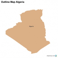 Outline Map Algeria