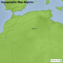 topographic Map Algeria