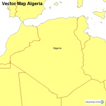 Vector Map Algeria
