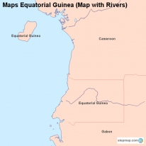 Maps Equatorial Guinea (Map with Rivers)