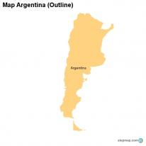Map Argentina (Outline)