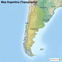 Map Argentina (Topography)