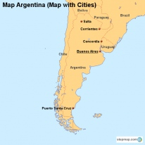 Map Argentina (Map with Cities)