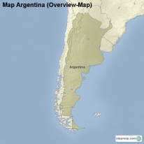 Map Argentina (Overview-Map)