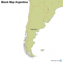 Blank Map Argentina