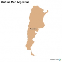 Outline Map Argentina